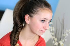 fluffy fishtail braid hairstyles for long cute girls