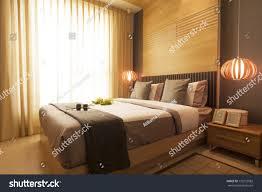 luxury modern japanese style bedroom stock photo 133732082