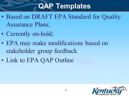 quality assurance plan qap department for environmental