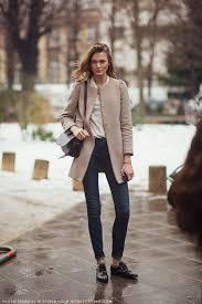 irina kulikova streetstyle fashion modeloffduty collarless coat