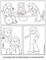 daisy coloring page honest and fair makingfriendsmakingfriends