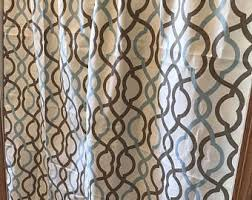 Lattice Design Curtains Lattice Curtain Etsy