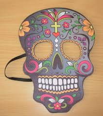Day Of The Dead Masks Day Of The Dead Mask U2013 Grey With Yellow Cross U2013 Code 1362