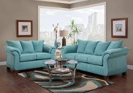 Blue Sleeper Sofa Aruba Aqua Sleeper Sofa U0026 Loveseat Badcock Home Furniture U0026 More