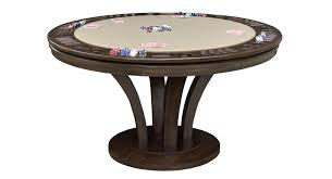 round poker table with dining top venice reversible top game table california house