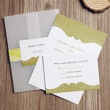 Wedding Invitation Pocket Envelopes Rustic Grass Green Swirl Pocket Wedding Invitations Iwgy057