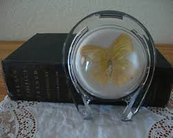 horseshoe paperweight horseshoe butterfly etsy