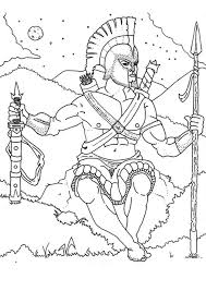 greek gods aphrodite warrior greek coloring pages athena