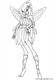 bloom flowerix winx club coloring pages