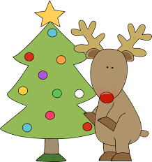 christmas tree and reindeer clip art christmas winter images