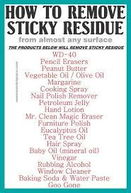 20 methods to remove sticky adhesive goo u0026 gunk from various