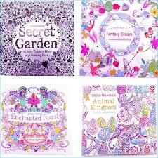 coloring books 4 designs secret garden animal kingdom