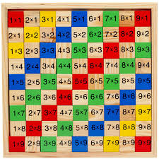 multiplication tables for children free shipping children wood 1 9 multiplication table mathematics