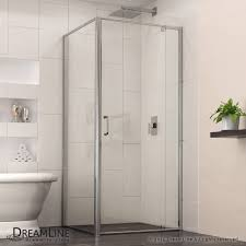 Shower Door Magnetic Strips by Flex Pivot Shower Door With Return Panel