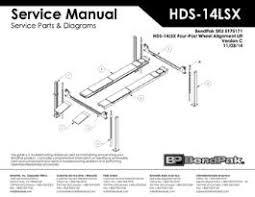bendpak service manuals parts and diagrams