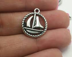Personalized Charms Bulk Sailboat Charm