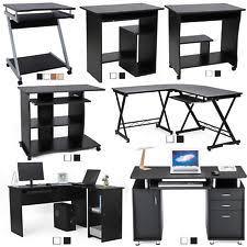 bureau informatique noir bureaux et tables d ordinateur meuble informatique noir pour la