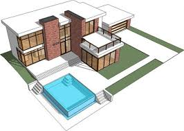 houses blueprints plan 44038td retro modern design with tour minecraft