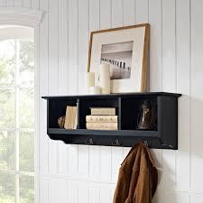 crosley brennan entryway storage shelf mahogany hayneedle
