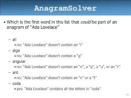 anagramsolver based on slides by ethan apter ppt video online