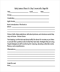 lesson plan template hunter sle guided reading lesson plan 9 documents in pdf word