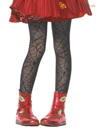 girls deluxe leg avenue halloween tights bat spiderweb halloween