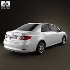 2013 model toyota corolla toyota corolla le 2012 3d model cgtrader