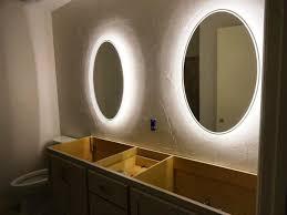 Wall Mounted Mirror With Lights Bathroom Cabinets Wall Mounted Shaving Mirror Beauty Mirror With