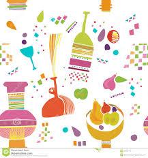 kids kitchen pattern wallpaper royalty free stock images image