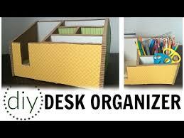 Decorative Desk Organizers Diy Desk Organizer How To Use Cardboard For Pencil Organizer