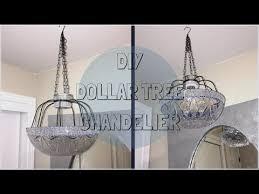 Diy Chandelier Lamp 6 00 Diy Dollar Tree Lamp Chandelier Youtube