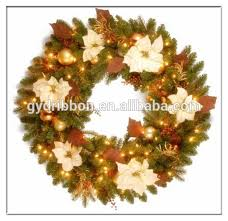Decorated Christmas Wreaths Wholesale top selling artificial white berries and pine needle decorative