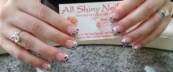 all shiny nails nail salon in spokane nail salon 99223 wa