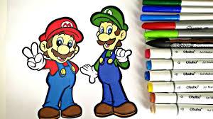 mario u0026 luigi coloring page colorfulcat youtube