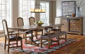 dining room table with bench and chairs american attitude x pattern dining room set w bench formal