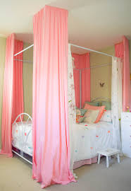 canopy beds for little girls bright u0026 colorful bedroom small changes with a big impact