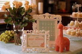 coral baby shower coral and aqua baby shower party ideas photo 5 of 33 catch my