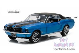 Blue Mustang Black Stripes 1967 Ford Mustang With Ski Rack