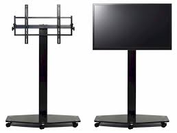 Led Tv Stands And Furniture Transdeco Led Lcd Tv Stand W Mount Casters For 40 80 Inch