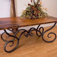 rectangle iron dining table base milan