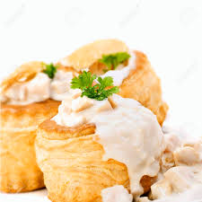 au f駑inin cuisine vol au vents filled with ragout fin stock photo picture and royalty