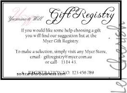 wedding registry card wording wedding invitation fresh gift registry cards in wedding invitatio