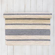 Striped Kitchen Rug Runner Blue And White Striped Scandinavian Floor Runner From