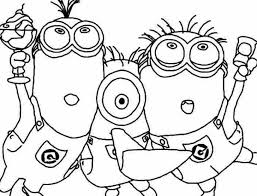 despicable coloring free coloring pages