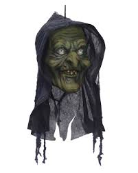 swamp witch head halloween decoration ghost train decoration