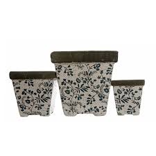 national trust berrington floral vine flower pot small from