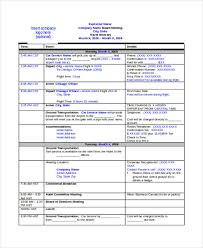business travel itinerary template business travel itinerary 9