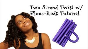 stranded rods hairstyle two strand twist w flexi rods tutorial youtube