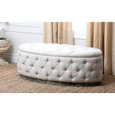 Leather Ottoman Storage Furniture Luxury Round Tufted Ottoman For Home Furniture Ideas