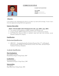 Sample Resume Format Of Fresh Graduate by Sample Resume Format For Fresh Graduates One Page Format Resumee